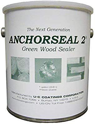 Anchorseal 2 Hybrid Log Lumber End Grain Sealer Water Based Wax Polymer Prevents Up To 90 Of End Checking Drying Split Wood Sealer Green Wood End Grain
