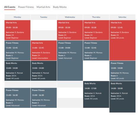Timetable Responsive Schedule For Joomla Schedule Design