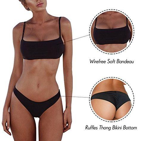 cfe862444e7d6 Padded Push up Brazilian Thong Bikini Sets 2018 Swimsuits for Women ...