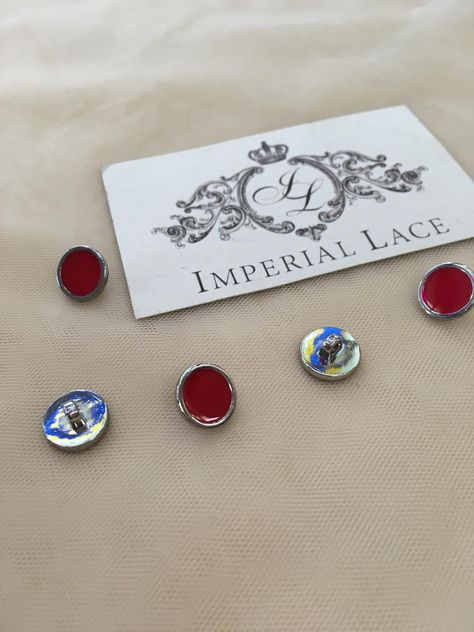 Red button, buttons, Buttons for dress, Applique buttons, Applique, Metal button, Red knob, Knob for clothes, Pommels, Poga16
