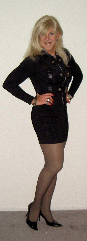 Jennifer Merrill, beautiful drag queen/crossdresser - I LOVE her captions!