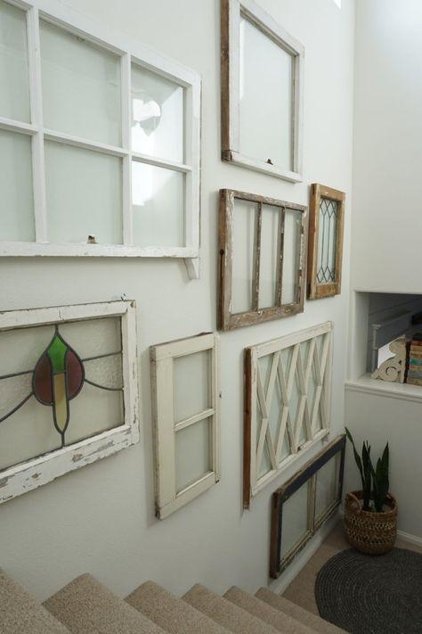 How To Hang Vintage Windows Mrs Rollman Blog Window Wall Decor Vintage Windows Frame Wall Decor