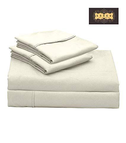 Esseu 300 Thread Count 100 Cotton Sheet Set Soft Sateen Weaveking Sheets Deep Pocketshome Hotel Collect Luxury Bedding Luxury Bedding Sets Cotton Sheet Sets 300 thread count cotton sheets