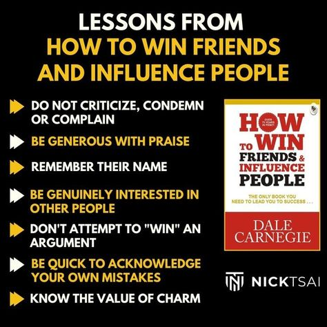 Lessons From How To Win Friends And Influence People