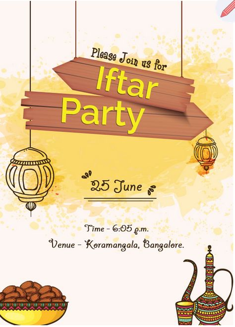 Pin By Grouptable On Iftar Party Invitation Iftar Iftar