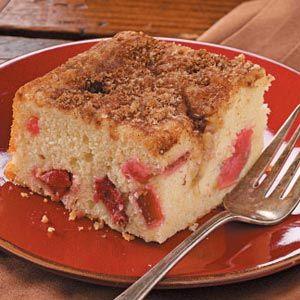 Rhubarb Buttermilk Coffee Cake Recipe In 2020 Rhubarb Coffee Cakes Coffee Cake Recipes Buttermilk Coffee Cake
