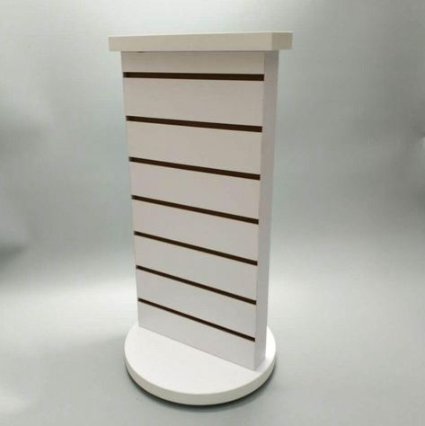 2 Sided Slatwall Counter Spinner White Display Rack Souvenior