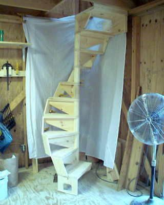Diy Wood Spiral Stairs Built From Plans Spiral Staircase Plan Spiral Stairs Stair Plan