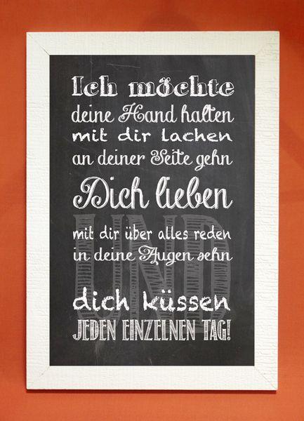 """Kunstdruck mit Spruch """"Liebe"""" von Foto-Design & Digital-Art auf DaWanda.com"""