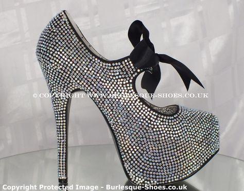 a437a36c42f7 Bordello Shoes Teeze 04R Iridescent Rhinestone Burlesque Shoes - Burlesque  Shoes