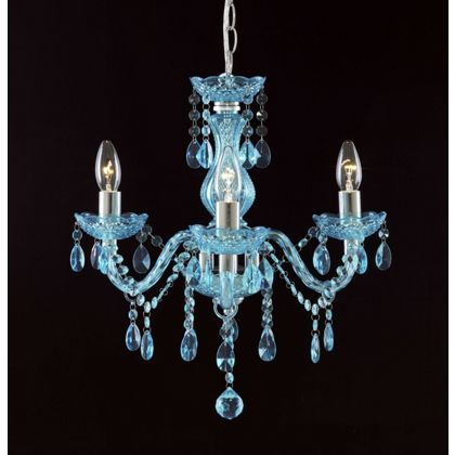 Marie Therese 3 Light Chandelier - Teal at Homebase -- Be inspired ...