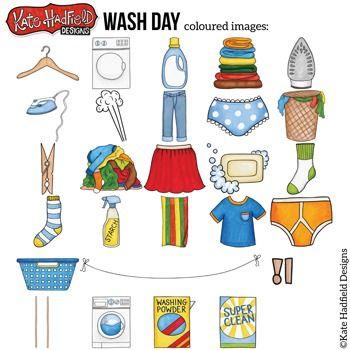 Laundry Chores Clip Art Wash Day Clip Art Art Bundle Hand