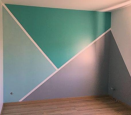 Patrones De Pared Geometricos De Bricolaje Chambre Diy Geometric Patterns Wall Haus Und Wohnen Raumfarbe Kleinkind Zimmer