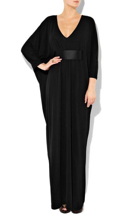b1832fb44c73e LQ Dubai Deep Low Cut Arabic Evening Dress Empire Waist Maxi Gown With Belt  Black Chiffon Ruffles Abaya Long Sleeve Muslim Evening Gowns Occasion  Dresses ...