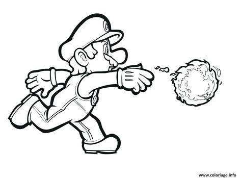 Coloriage De Mario Lance Coloriage Mario Kart Wii A Imprimer