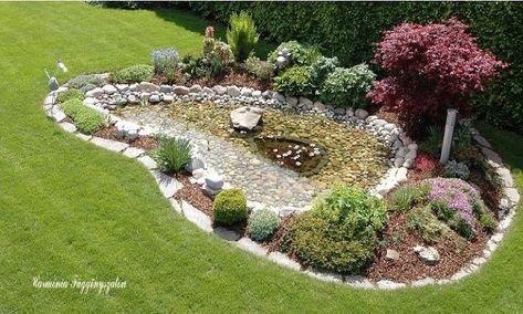 sziklakertek és kerti tavacskák (45 fantasztikus ötlet, Gartenarbeit ideen