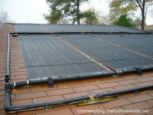 Solar Panels Attached To Roof To Heat The Swimming Pool Solarpanelinstallation Solar Panels Solar Solar Pool