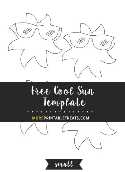 Free Cool Sun Template - Small Size Shapes and Templates