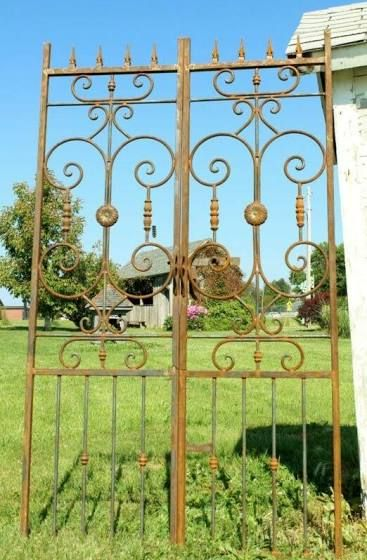 Antique Wrought Iron Fence Craigslist Metal Garden Gates Iron