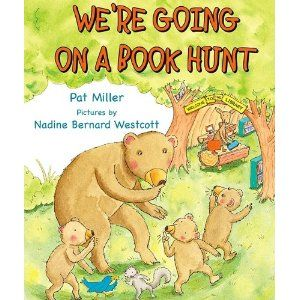 We're Going On A Book Hunt...  Teaching how to find a just-right book, library skills, etc. (cute!)