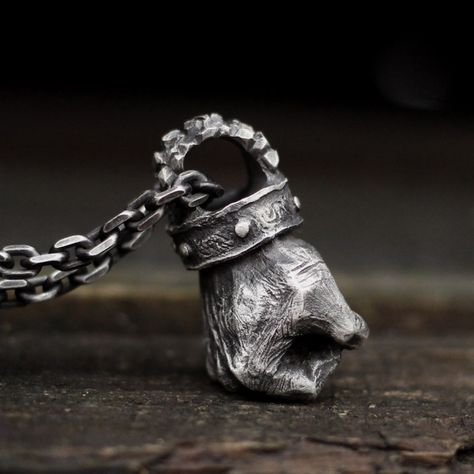 Mens silver jewelry - Fist of Strength Pendant 925 Sterling Silver Strength Necklace Fist pendant – Mens silver jewelry Mens Silver Jewelry, Sterling Silver Jewelry, Mens Skull Rings, Sculpture Metal, Skull Jewelry, Men's Jewelry, Viking Jewelry, Jewelry Accessories, Argent Sterling