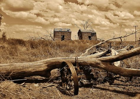 """abandoned barns and wagon entitled """"broken"""" - one of 8 picks for this week's Friday Favorites - Living Vintage"""
