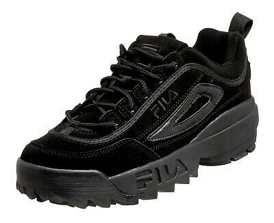 FILA Disruptor II Black Black Mens Sneakers Tennis Shoes ...