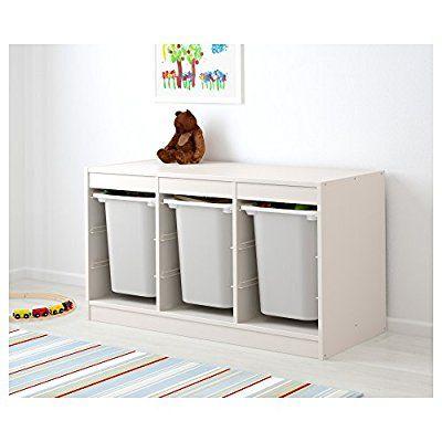 Ikea Trofast Combinaison De Rangement Avec Des Boites Blanc Blanc Amazon Fr Cuisine Maison Rangement Bas Rangement Mobilier De Salon