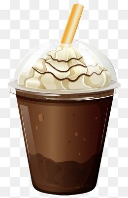 Free Download Coffee Cup With Whipped Cream Png Clipart Png Image Iccpic Iccpic Com Whipped Cream Chocolate Ice Cream Milkshake Ice Cream Cup