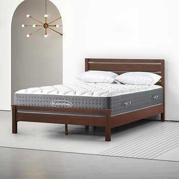Blackstone Amalfi 12 Hybrid Mattress And Platform Bed Set Platform Bed Sets Bedding Sets Solid Wood Platform Bed Platform bed and mattress set
