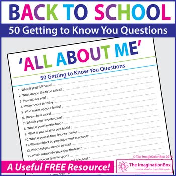 Free All About Me Questionnaire Getting To Know You Activity Get To Know You Activities All About Me Activities About Me Activities All about me questionnaire preschool
