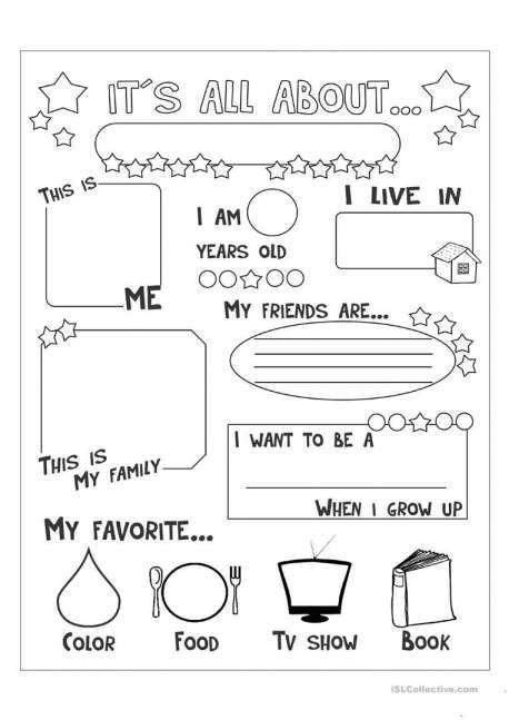 11 Kindergarten Self Introduction Worksheet Kindergarten With