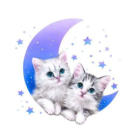 картинки которые двигаются и блестят котята