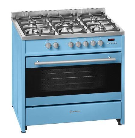 Cocina A Gas Meireles E911pb Butano Azul Pastel 5 Fuegos Cocinas Cocina De Gas Horno Independiente
