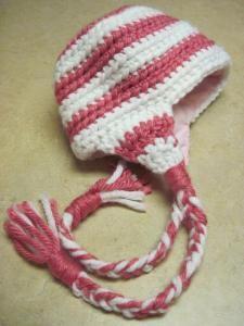 kids winter ear flap crochet hat