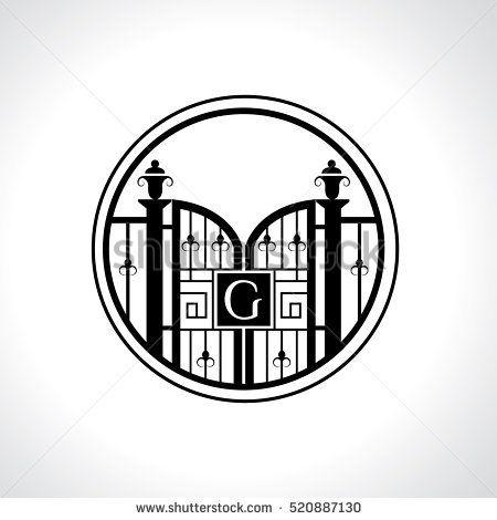 G letter vintage fence vector logo design template  Vintage