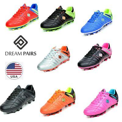 Dream Pairs Kids Girls Boys Soccer Shoes Outdoor Soccer Cleats Shoes Trainers Girls Soccer Shoes Kids Soccer Shoes Soccer Shoes Indoor