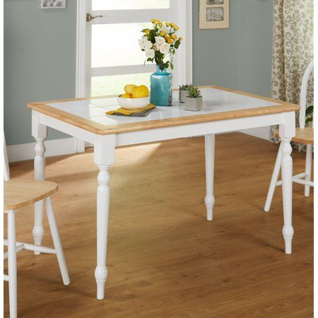 Home Dining Table Tile Top Tables Wood Dining Room Table