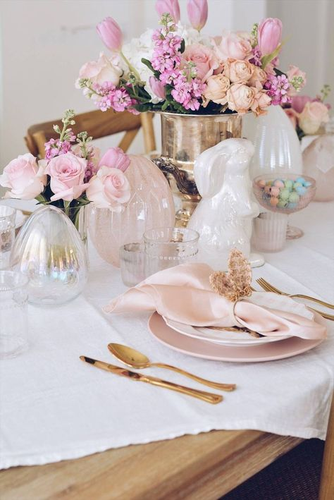 Photo of Beautiful Easter Tablescape Ideas: Easter Table Decor – The Pink Dream
