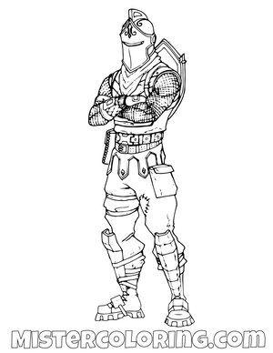Black Knight Posing Skin Fortnite Coloring Page Malvorlagen Fur Kinder Malvorlagen Fortnite