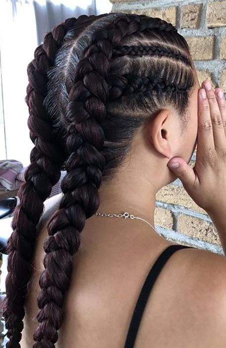 21 Coolest Cornrow Braid Hairstyles Cornrow Braid Styles Two Braid Hairstyles Cornrows Braids For Black Women