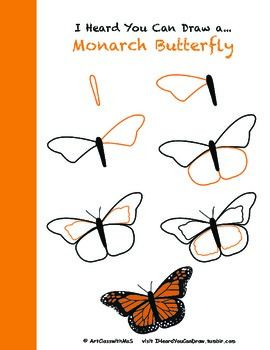 Learn how to draw a monarch butterfly step-by-step! butterfly drawing How to Draw a Monarch Butterfly painting easy step by step Cute Canvas Paintings, Small Canvas Art, Mini Canvas Art, Art Paintings, Painting Art, Easy Butterfly Drawing, Butterfly Art, Monarch Butterfly, How To Draw Butterfly