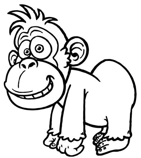 gorilla ausmalbilder  ausmalbilder ausmalen bilder