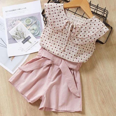 Bear Leader Girls Shirt & Shorts Set - AY265 pink / 2T