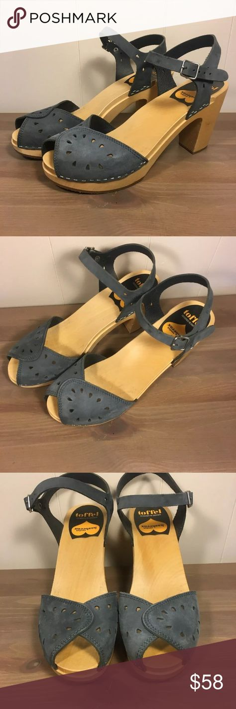 306abd571354 Swedish Hasbeens Pierced Leather Clog Sandals 41 Hello and welcome!  Featured item  a pair