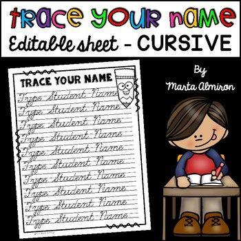 Trace Your Name Editable Cursive Cursive Practice Name Writing Practice Cursive Handwriting Practice