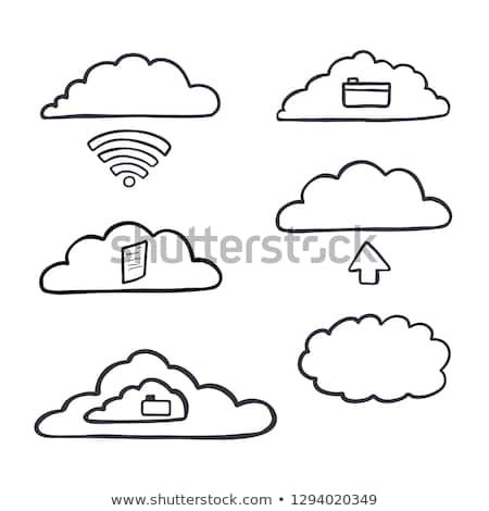Hand Drawn Vector Computer Cloud Server Illustration Concept Icon Elements Set Of Saving In The Cloud Cl How To Draw Hands Hand Drawn Vector Hand Drawn Icons