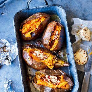 Wie Lachs sind auch Süßkartoffeln ein Geschenk des Himmels – die kann man auch ganz …