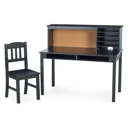 Guidecraft Kids Media Writing Desk Chair Set Black Walmart Com Desk And Chair Set Desk Chair Chair Set
