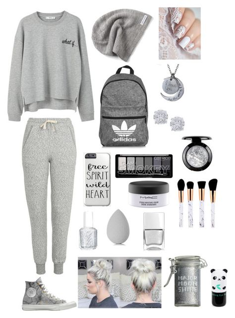"""Без названия #355"" by nsstr2016 ❤ liked on Polyvore featuring MANGO, Topshop, Converse, adidas, Effy Jewelry, Essie, Major Moonshine, beautyblender, MAC Cosmetics and Tony Moly"